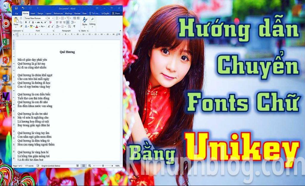 chuyển Fonts chữ và bảng mã bằng Unikey, chuyen Fonts chu va bang ma bang Unikey, hướng dẫn chuyển fonts chữ và bảng mã bằng unikey, huong dan chuyen fonts chu va bang ma bang unikey