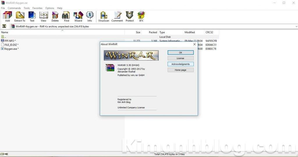 active winrar 5.50 full bản quyền, active winrar 5.50 full ban quyen, WinRAR KeyFileMaker kich hoat ban quyen winrar