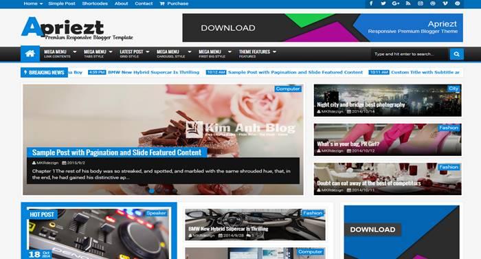 blogger template,  template blogspot, responsive blogger template, template seo, apriezt blogger template, template apriezt, apriezt v2.3, template blogspot tin tức, news blogger template