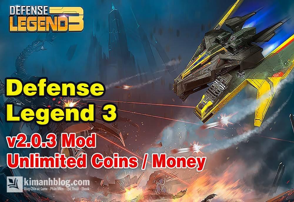 Defense Legend 3 Mod Tiền (coins) – Game Thủ thành Đại chiến hấp dẫn cho Android
