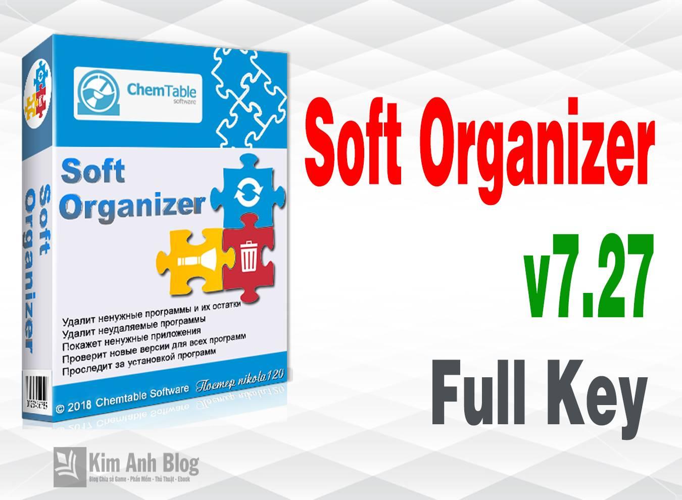 Soft Organizer 7.27 Full mới nhất – Xóa chương trình mạnh mẽ