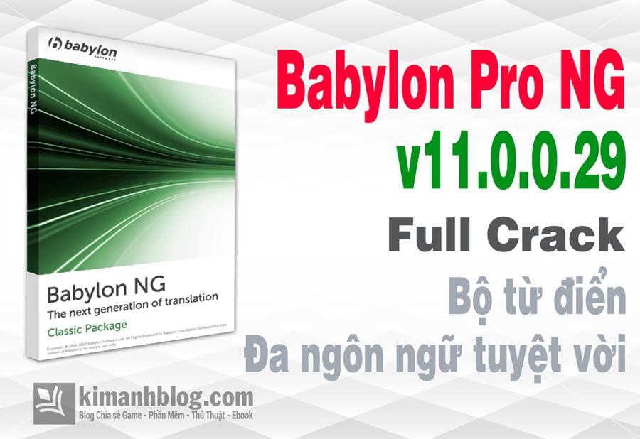 Babylon Pro full, Babylon Pro full crack, Babylon Pro 11 full crack, Babylon Pro 11 key, Babylon Pro NG, Babylon Pro NG full, Babylon Pro NG crack, Babylon Pro crack, tu dien da ngon ngu