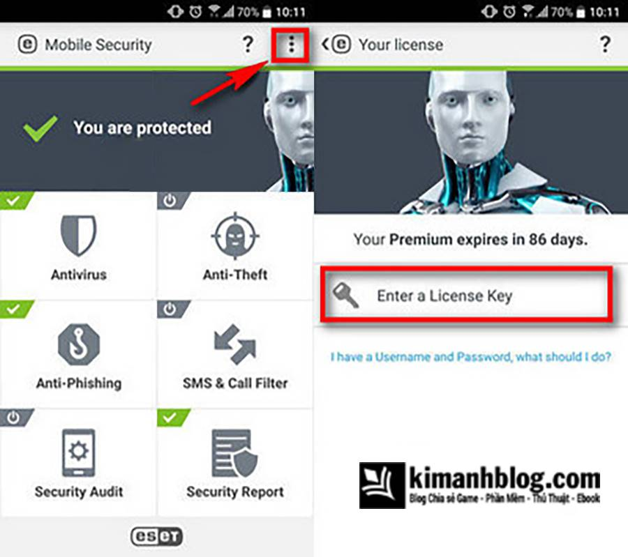 eset mobile security 2018 license key