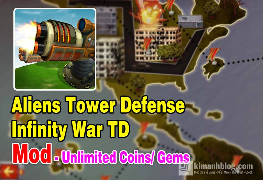 aliens tower defense infinity war td mod coins