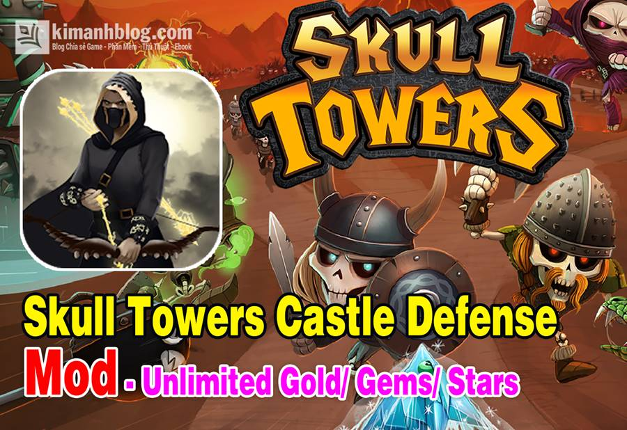 skull towers castle defense games mod gold