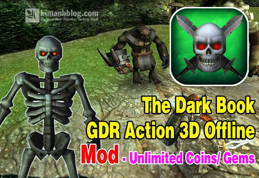 the dark book gdr action 3d offline mod coins