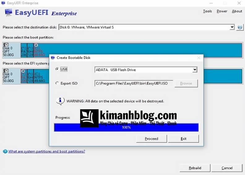 EasyUEFI Enterprise 3 6 Full Crack - Quản lí tùy chọn khởi