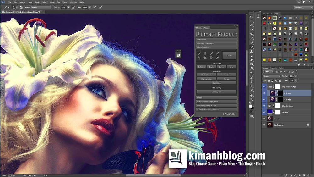 ultimate retouch panel for photoshop