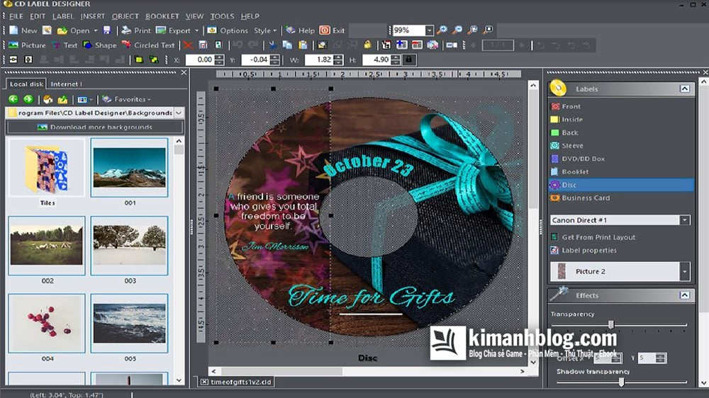 CD Label Designer 7.2.1 Full