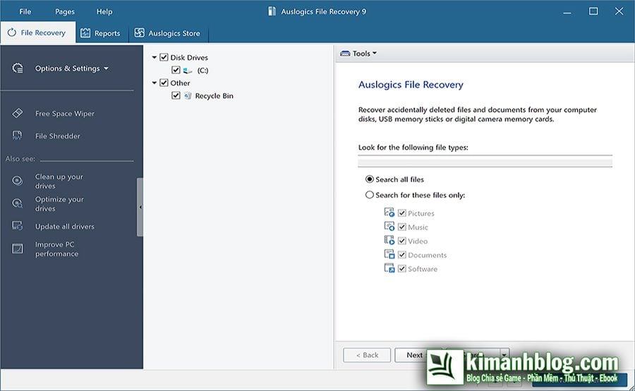 auslogics file recovery 9.0
