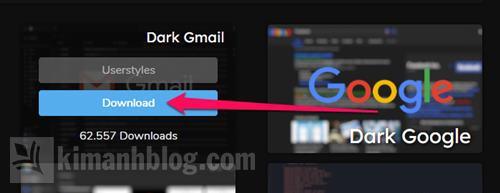 cách bật dark mode cho gmail