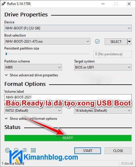 Hướng dẫn tạo USB NVH Boot 2021