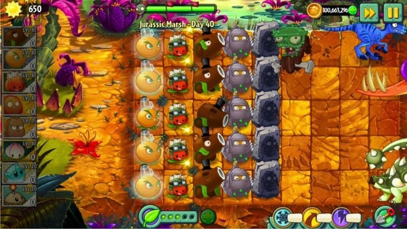 plants vs zombies 2 mod apk hack all plants unlocked max level